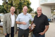 Ausplow Sales and Marketing Manager Chris Blight (left), General Manager Chris Farmer and Service Manager Ray Beacham.