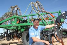 Bencubbin farmer Nick Gillett has two 60-foot DBS precision seeders for his 10,000-hectare cropping program to ensure he completes his program within the ideal sowing window, which he says gives him the ability to get the crop in and up in marginal moisture conditions.
