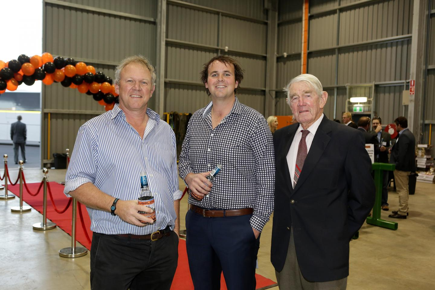Phil Longmire (left), Beaumont, Tom Sheridan O'Connors, Birchip, Victoria and Peter Rose, Perth.