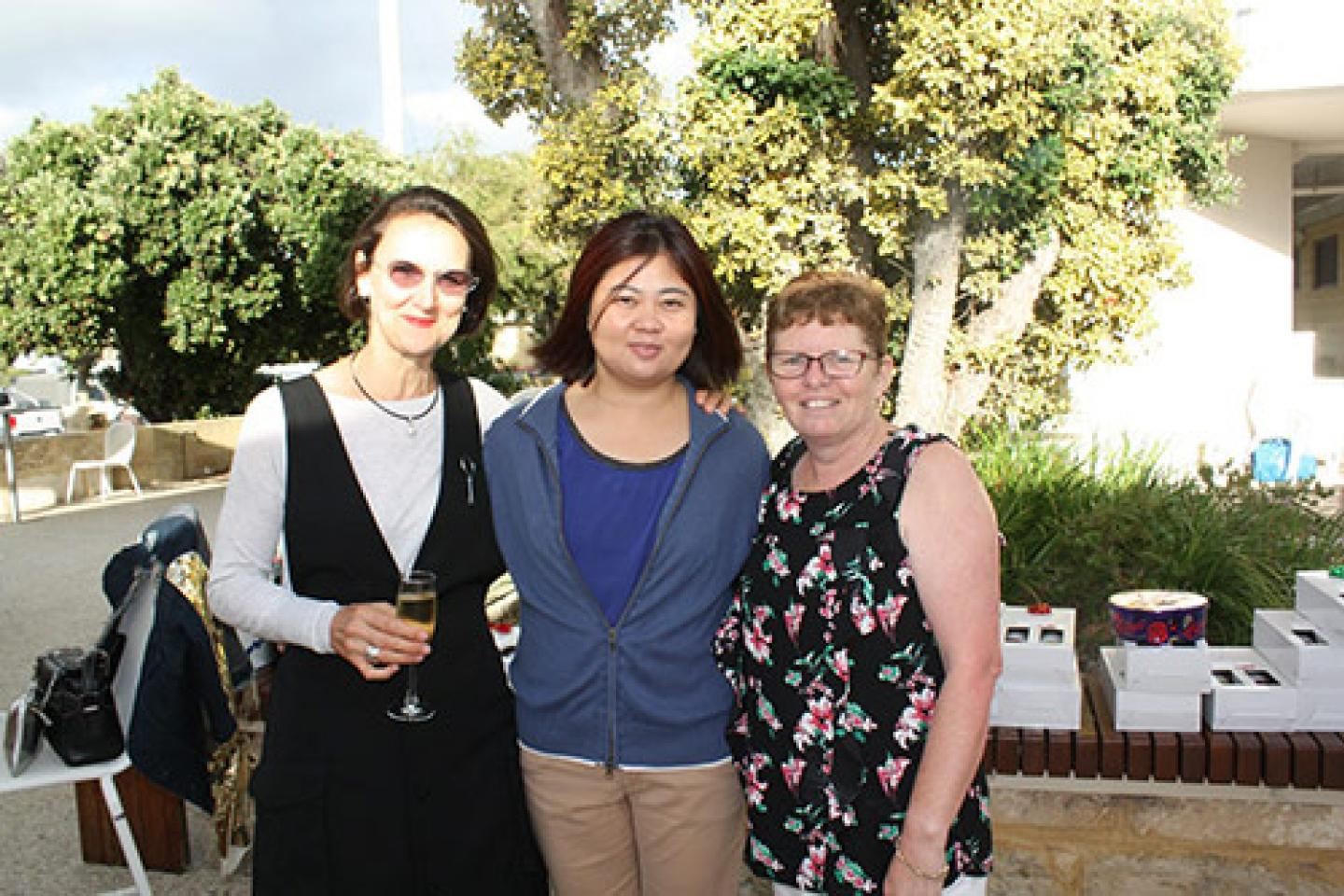 Josiane 'Josie' Sabouriaut (left), Mandy Tham and Kay Beacham.
