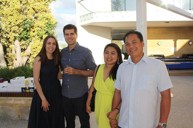 Tabita Adascalite (left), Ausplow Truck Driver Abel Adascalite, Rebekah Bautista, Ausplow Accountant and husband Reywin.