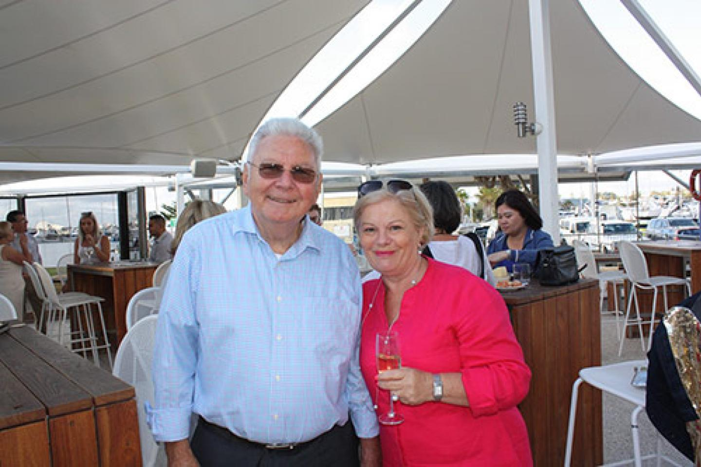 Ausplow Managing Director John Ryan and his partner Bernadette Turner.