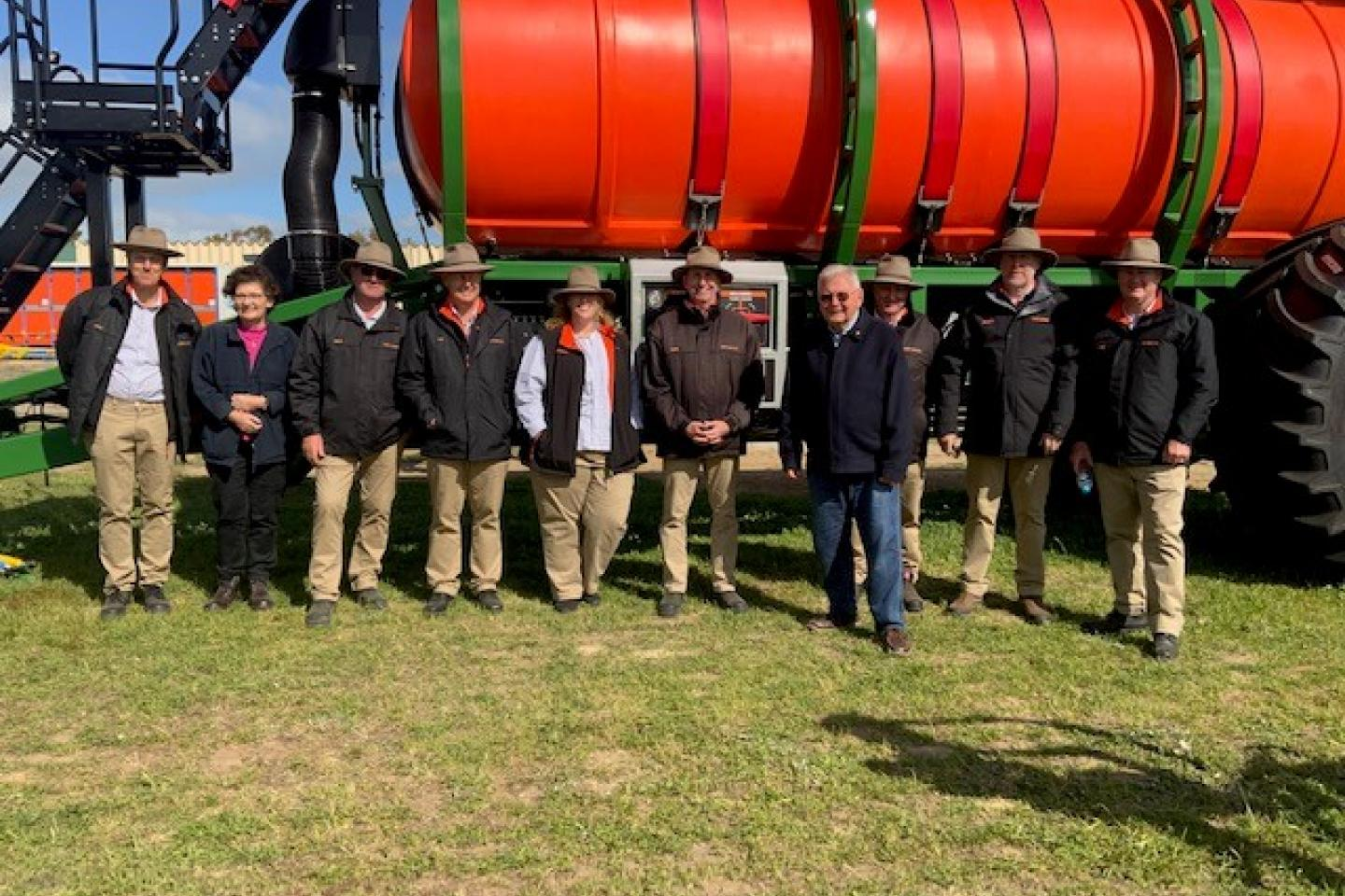 Ausplow was represented by a majority of its staff at Dowerin to handle customer queries and inquiries. The team included managing director John Ryan AM (fourth from the right),