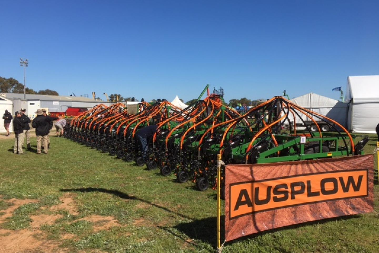 Ausplow's display at this year's Dowerin field days showcased its popular DBS precision seeder and Series II Multistream air seeder. As usual, the company's specialist staff were on hand to assist with inquiries.