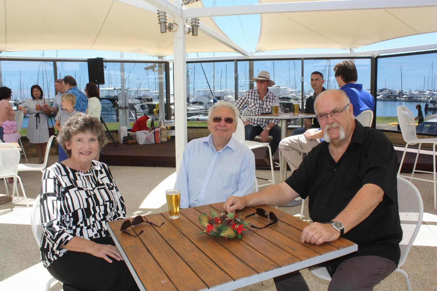 Former CSIRO soil scientist Dr Margaret Roper caught up with Ausplow managing director John Ryan AM. Pictured with Margaret is her husband John Hanratty.