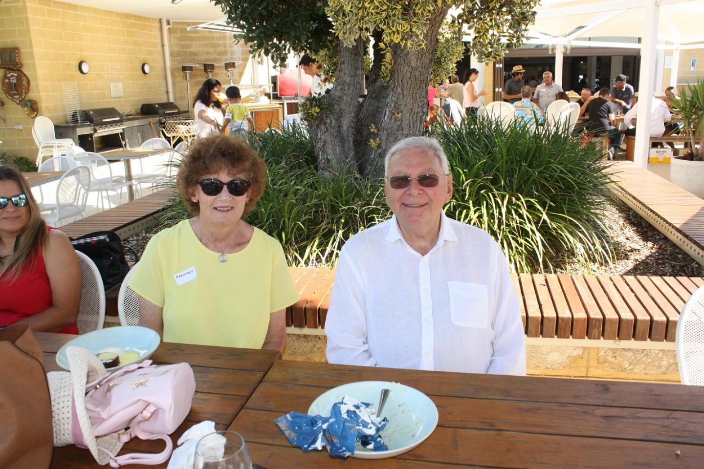 Dr Margaret Roper and Ausplow Managing Director John Ryan AM. Dr Roper is playing a pivotal role in Ausplow's research and development program with her background as a CSIRO scientist specialising in micro-biology.