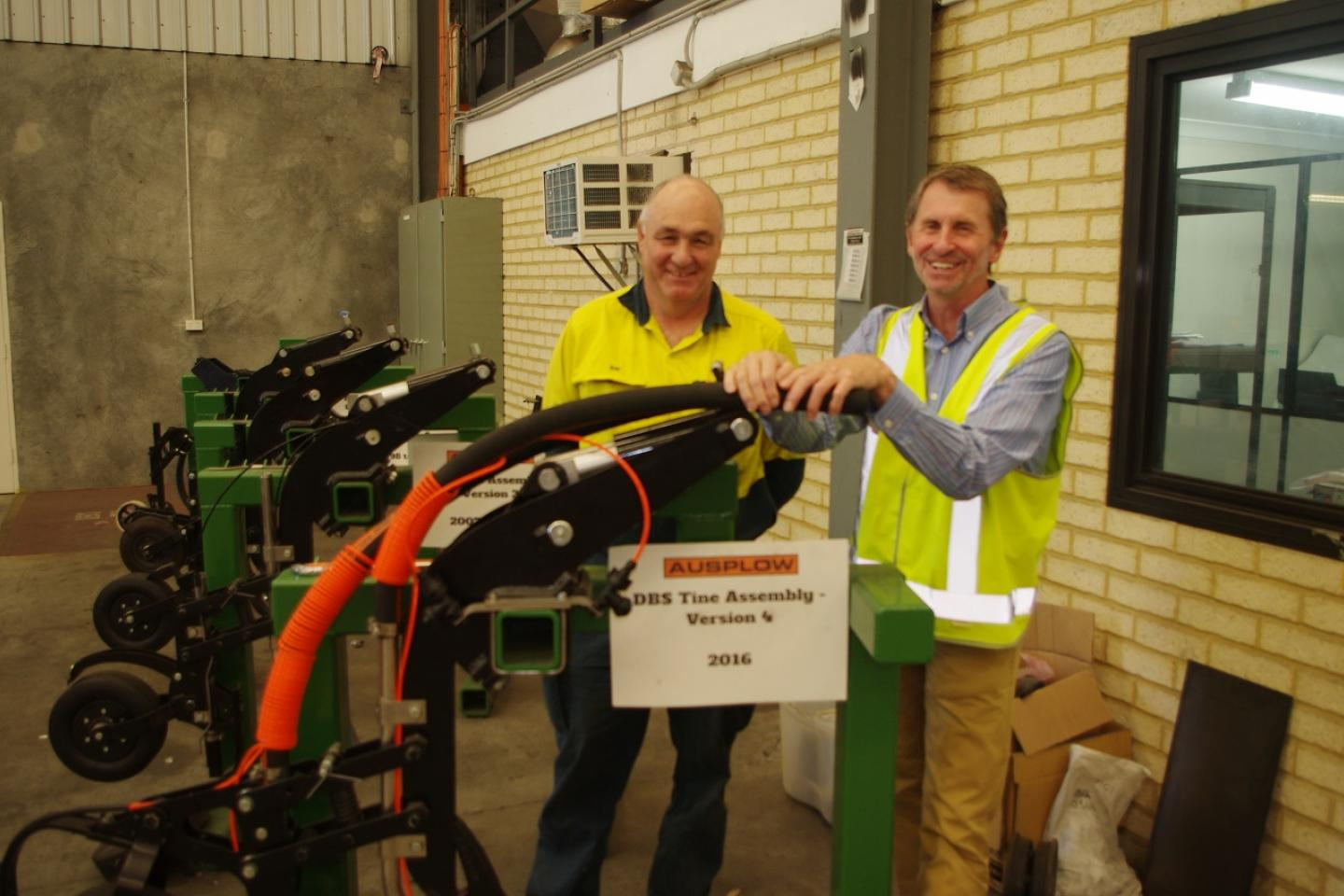 Service manager Ray Beecham (left) and sales and marketing manager Chris Blight have played pivotal roles in the development of the DBS module over the years.