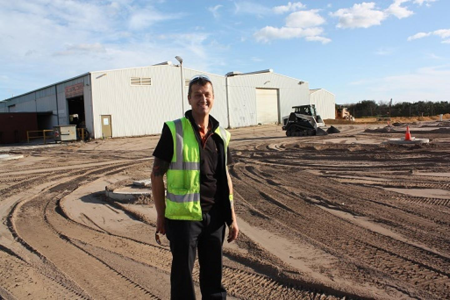 Ausplow factory manager Gary Andrews.